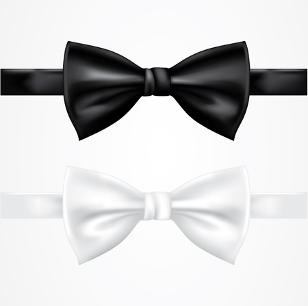 Black and white tie