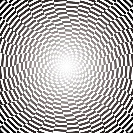 disappear: Optical illusion Illustration