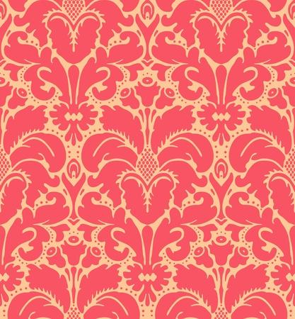 Jednolite tło adamaszku styl barokowy