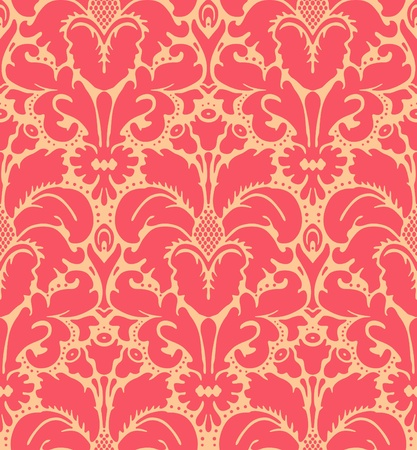 Seamless baroque style damask background Stock Vector - 11312909