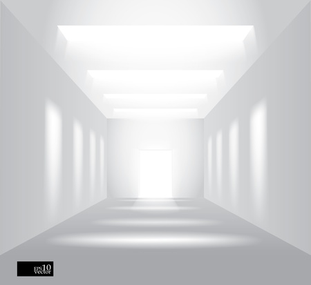 Hall with lights Vector
