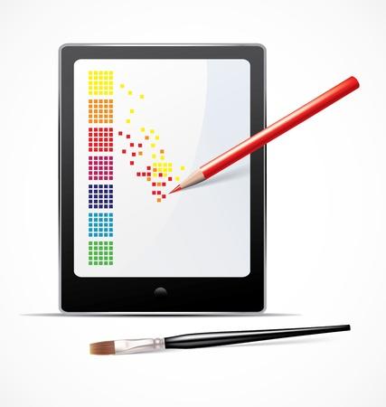 digital art: Digital art concept