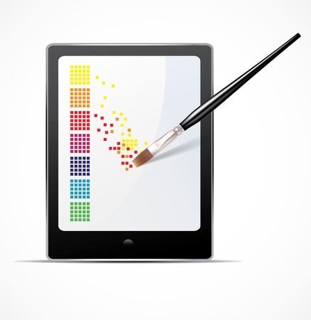 Cyfrowa koncepcja sztuki Ilustracja