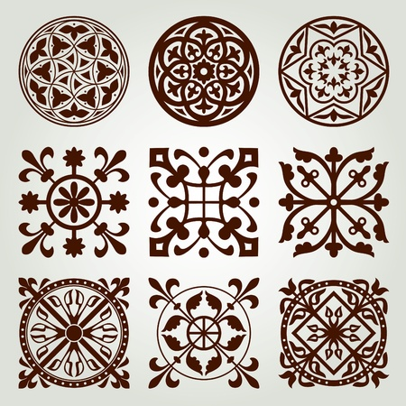 Gothic elements set Vector