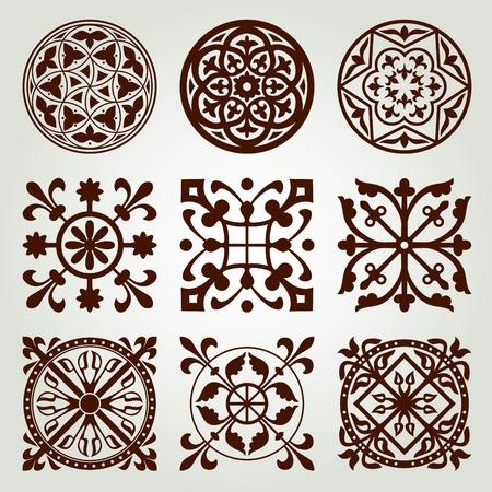 Gotyckie elementy określone Ilustracja