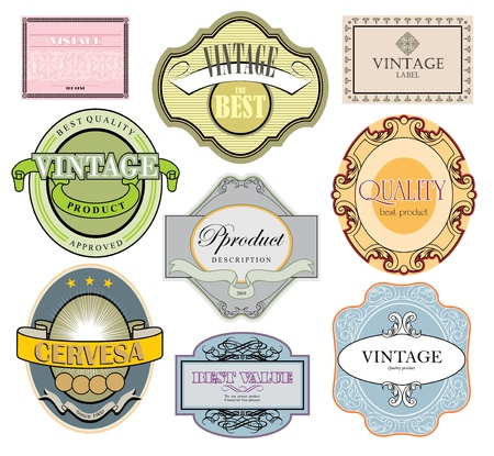Vintage style labels set Stock Vector - 12487727