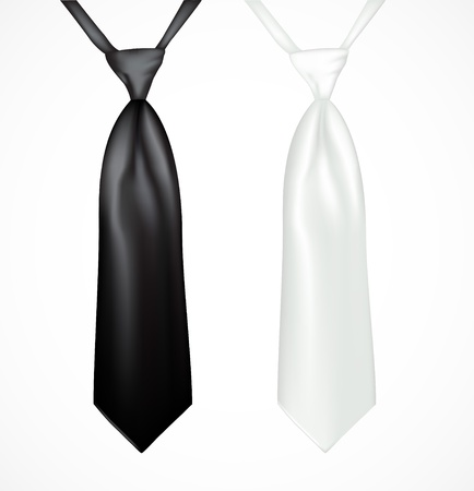necktie: Black and white tie
