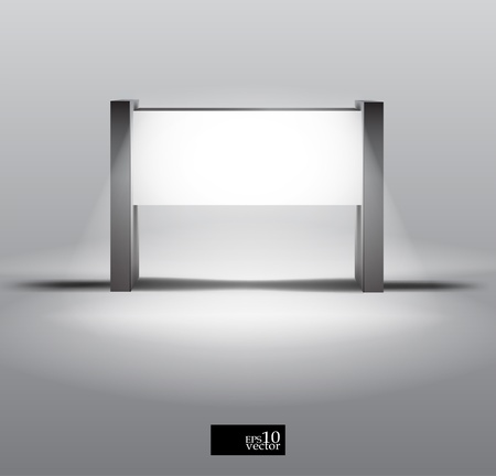 Blank lightbox display Illustration