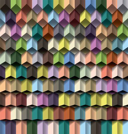 Editable vector cube pattern for design Stock Vector - 12958941