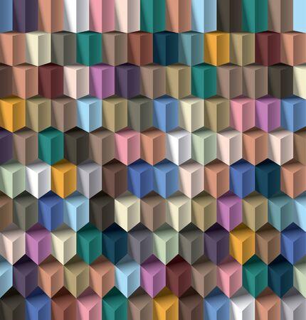Editable vector cube pattern for design Stock Vector - 12958930