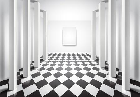 Editable vector  interior illustration for design