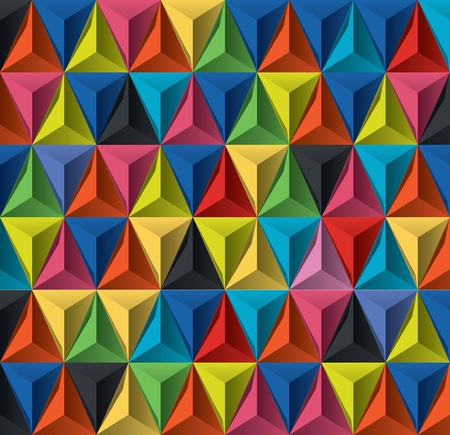 triangle objects: Editable modern vector background for design