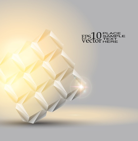 Origami object background