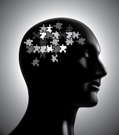 Brainstorm-brain puzzle concept Stock Vector - 13508043