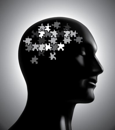 mente humana: Lluvia de ideas-Puzzles concepto Vectores