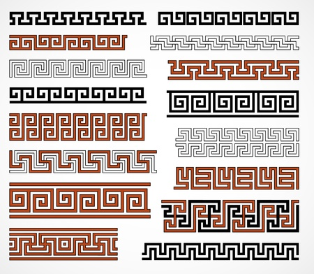 Greek style borders Vector