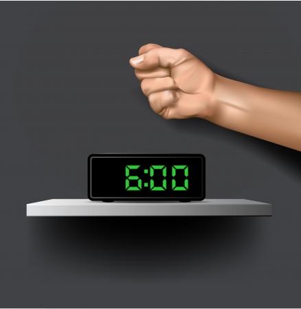 Zegar cyfrowy z ramieniem Ilustracja