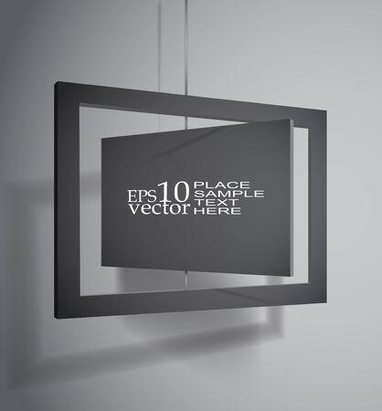 Hanging board template Illustration