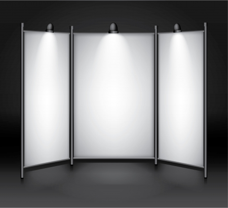 display stand: Blank exhibition show booth