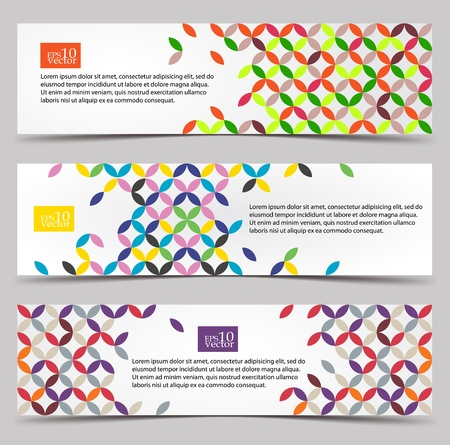 Colorful pattern web banners Illustration