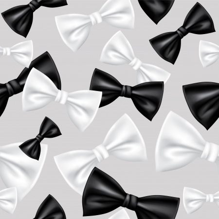 black bow: Seamless bow tie pattern