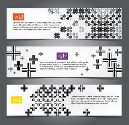 Cross  pattern web banners Stock Vector - 17192452