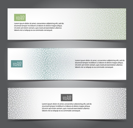 Maze web banners Illustration
