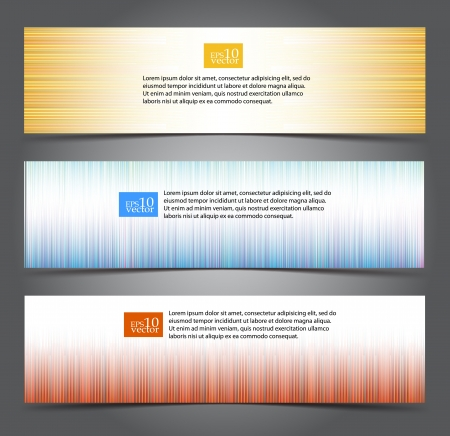 Coloured stripe web banners