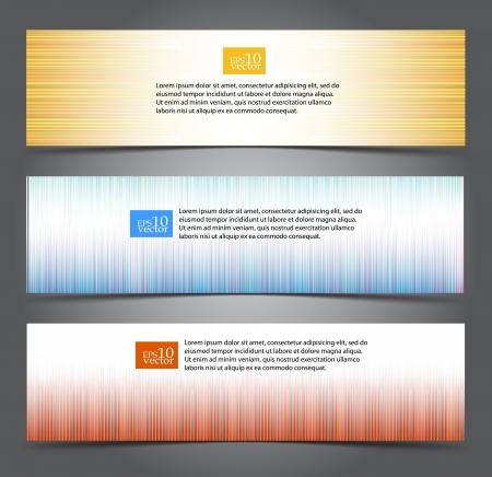 Kolorowe banery, pasek internetowych