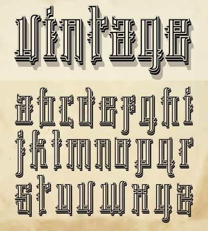 Vintage style font  small letters