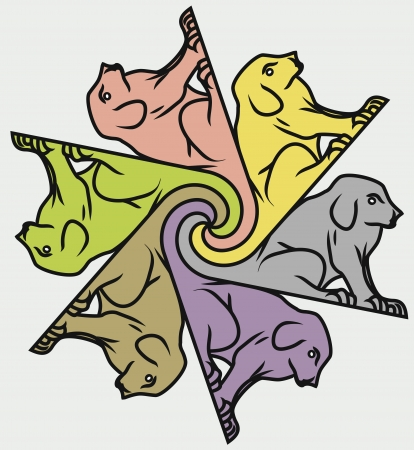 tessellate: Seamless dog pattern