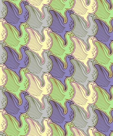 Seamless bird pattern Stock Vector - 24987128