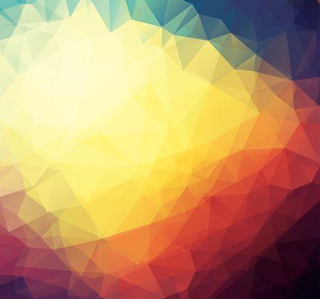 Nowoczesne siatki trójkątów witraże mozaika projekt