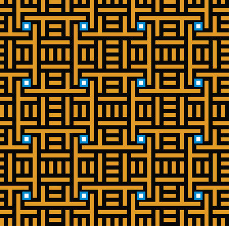 Seamless geometric ornament pattern