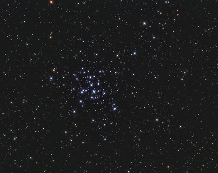 ccd camera: Real star cluster Messier36 in Auriga taken with CCD camera and telescope