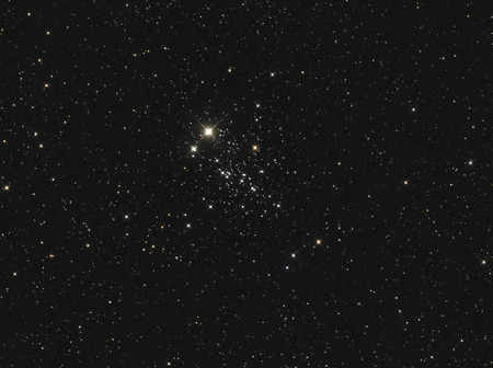 cluster: Real star cluster named owl cluster or ET cluster or NGC 457 taken with CCD through telescope