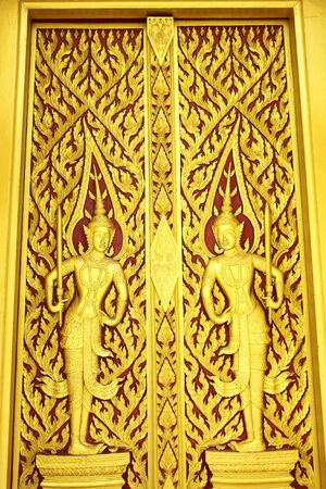 Thai style carving photo
