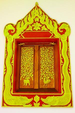Thai design about window photo