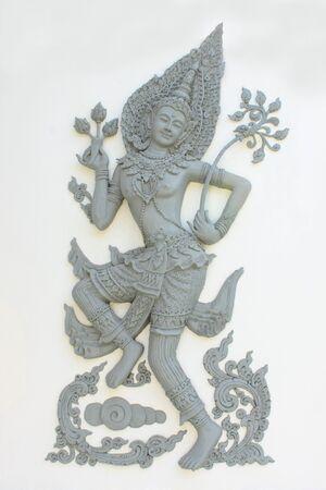 Angel of Thai tale in Buddhism,Wat Sung Men,Phrae,Thailand photo