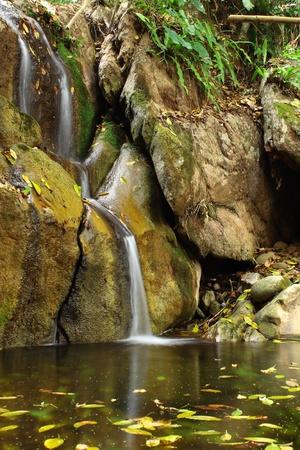 A little waterfall on hot season photo