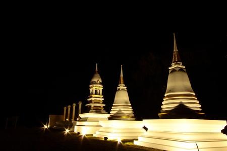 night vision: Night vision of inside monastery,Su-kho-thai,Thailand