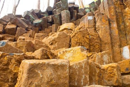columnar: Wonderful columnar in volcano area,Phrae,Thailand