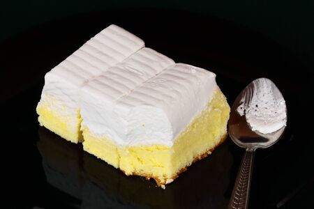 Fresh milk cream cake photo