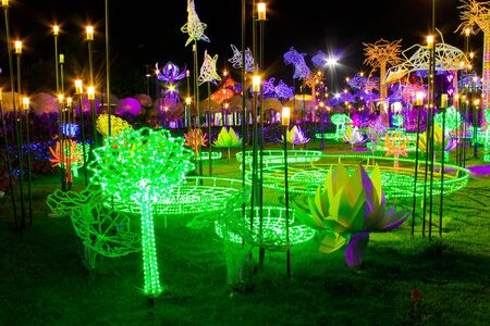 show garden: Show of imagination about garden and color light