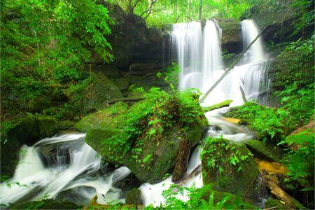 Mun Daeng waterfall,Pisa-nu-loke,Thailand photo