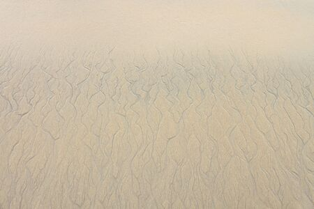 furrow: Water furrow after wave of sea