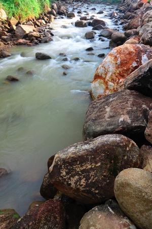 Rill and stone on beginning of rainy Stock Photo - 16162887