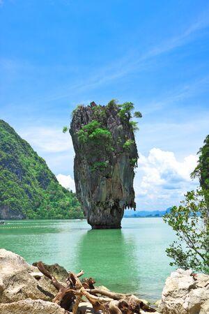 inlet bay: Ta Poo mountain,the landmark of Pang-nga,Thailand