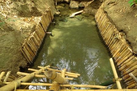 fountainhead: Pool of hot fountainhead for take a bath and health