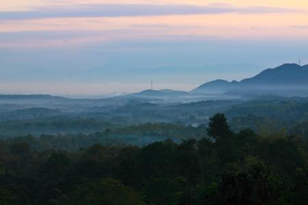 wilding: Early morning at Nam-Prao village,Phrae,Thailand Stock Photo